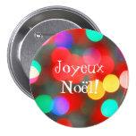 Joyeux Noël Dancing Lights Button