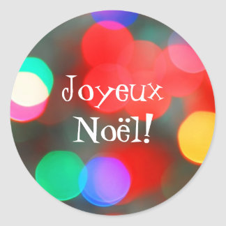 Joyeux Noël Dancing Lights Sticker