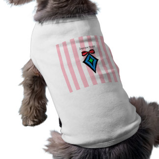 Joyeux Noël Diamond Ornament Doggie Tank Top Pink