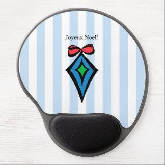 Joyeux Noël Diamond Ornament Gel Mouse Pad Blue