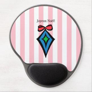 Joyeux Noël Diamond Ornament Gel Mouse Pad Pink