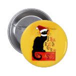 Joyeux Noël Du Chat Noir 6 Cm Round Badge