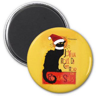 Joyeux Noël Du Chat Noir 6 Cm Round Magnet