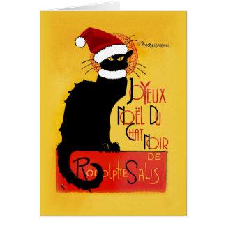 Joyeux Noël Du Chat Noir Card