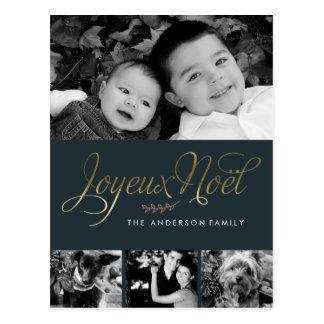 Joyeux Noel Elegant French Christmas Postcard