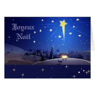 Joyeux Noël. French Christmas Card
