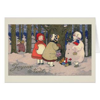 """Joyeux Noel"" French Vintage Christmas Card"