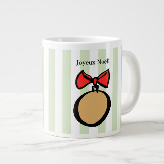Joyeux Noël Gold Christmas Ornament Mug Green