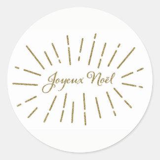 Joyeux Noel Gold Sticker