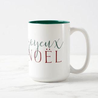 Joyeux Noel Holiday Two-Tone Coffee Mug