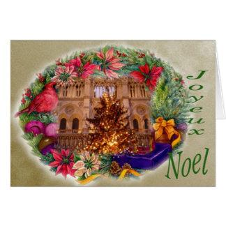 JOYEUX NOEL NOTRE DAME GREETING CARD