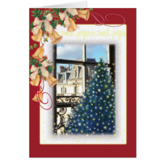 JOYEUX NOEL PARIS LANDSCAPE CHRISTMAS GREETING CARD