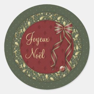 Joyeux Noel Round Sticker