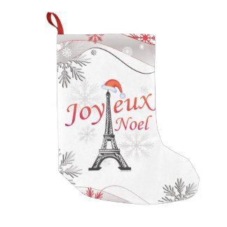 Joyeux Noel Small Christmas Stocking