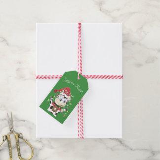 Joyeux Noël Snowbell gift tag