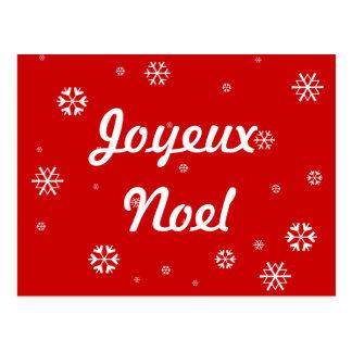 Joyeux Noel Snowflakes Postcard
