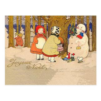Joyeux Noel Vintage Christmas Postcard