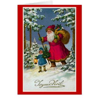 """ Joyeux Noel"" Vintage French Christmas Card"