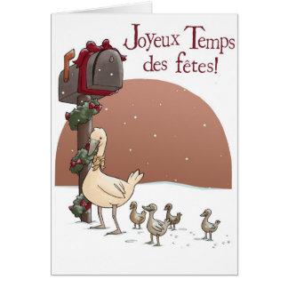 Joyeux Temps des fêtes Card