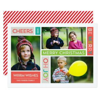Joyful & Bright Holiday Photo Card