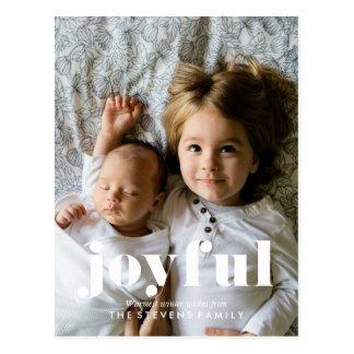 Joyful Christmas Full Bleed Photo Postcard