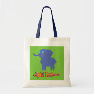 Joyful Elephant Tote Bag