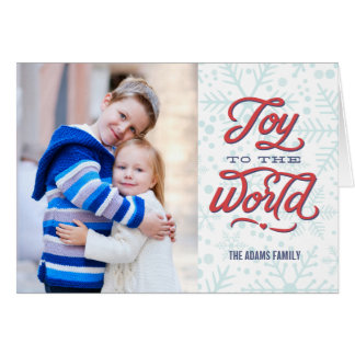 Joyful Flakes Holiday Photo Greeting Card