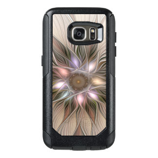 Joyful Flower Abstract Beige Brown Floral Fractal OtterBox Samsung Galaxy S7 Case