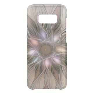 Joyful Flower Abstract Beige Brown Floral Fractal Uncommon Samsung Galaxy S8 Case