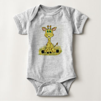 Joyful Giraffe Baby Bodysuit