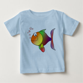 Joyful Goldfish in Sea Baby T-Shirt