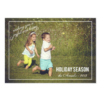 Joyful & Happy Holiday Season | Holiday Photo Card 13 Cm X 18 Cm Invitation Card