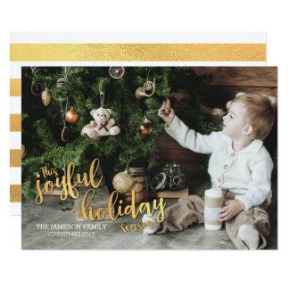 Joyful Holiday Season Gold Card