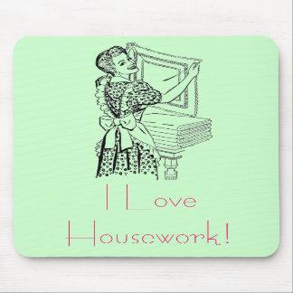 Joyful housewife mouse pads