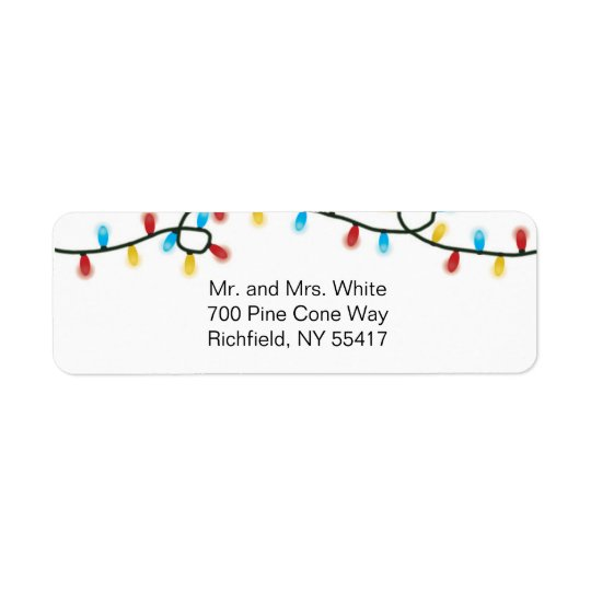 Joyful Lights Address Labels
