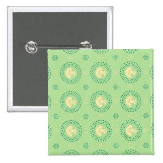Joyful Manly Sleek Charming 15 Cm Square Badge