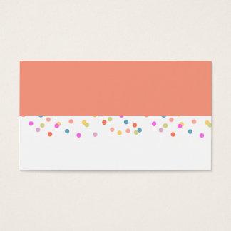 Joyful   Modern Confetti Wedding Placecard