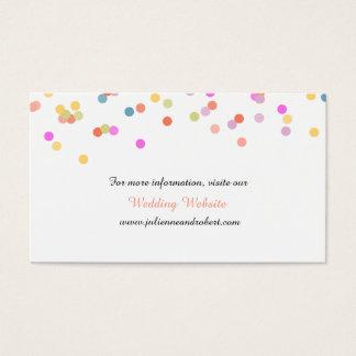 Joyful   Modern Confetti Wedding Website Card