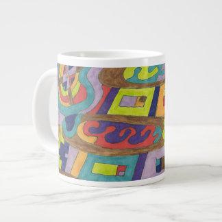 """""""Joyful Noise"""" Abstract Art Jumbo Mug"""