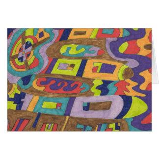 Joyful Noise, abstract Greeting Card