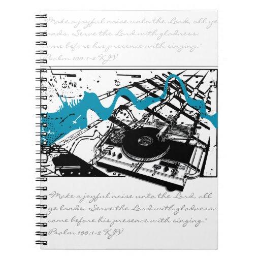 Joyful Noise! Grunge Style Notebook