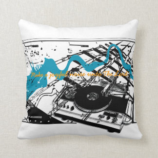 Joyful Noise Grunge Style Throw Pillow