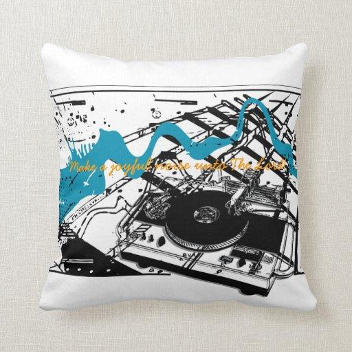 Joyful Noise! Grunge Style Throw Pillow