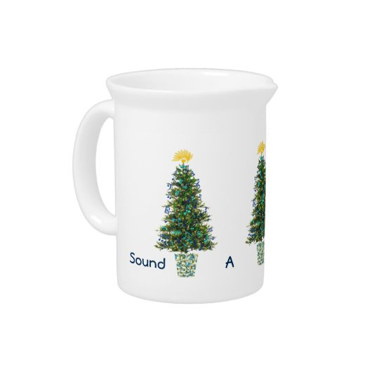 Joyful Note Music Decorations Christmas Trees Pitcher