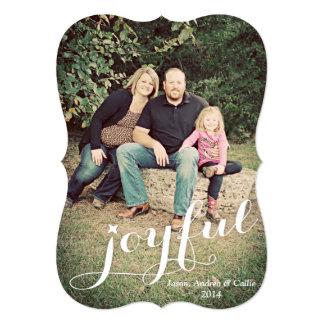 Joyful Photo Holiday Card 13 Cm X 18 Cm Invitation Card