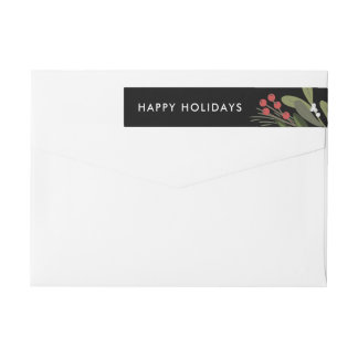 Joyful poinsettia-Christmas Return Address Labels