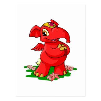 Joyful red Elephante in Shenkuu Postcard
