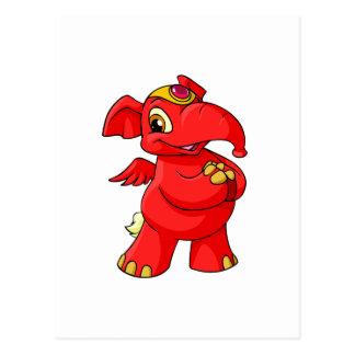Joyful red Elephante Postcard
