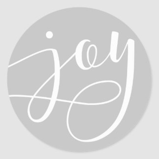 Joyful Script Round Sticker