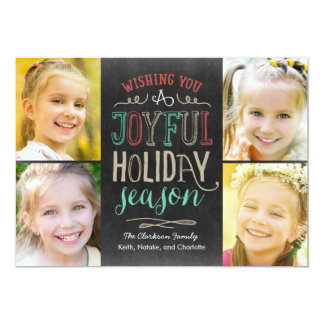 Joyful Season Holiday Photo Card 13 Cm X 18 Cm Invitation Card